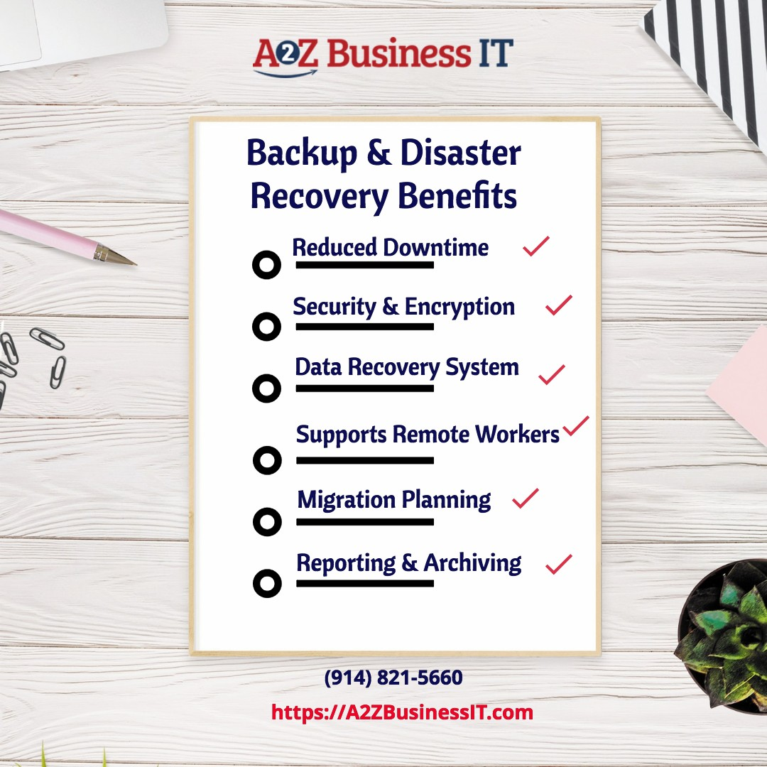 what are the benefits of backup and disaster recovery services